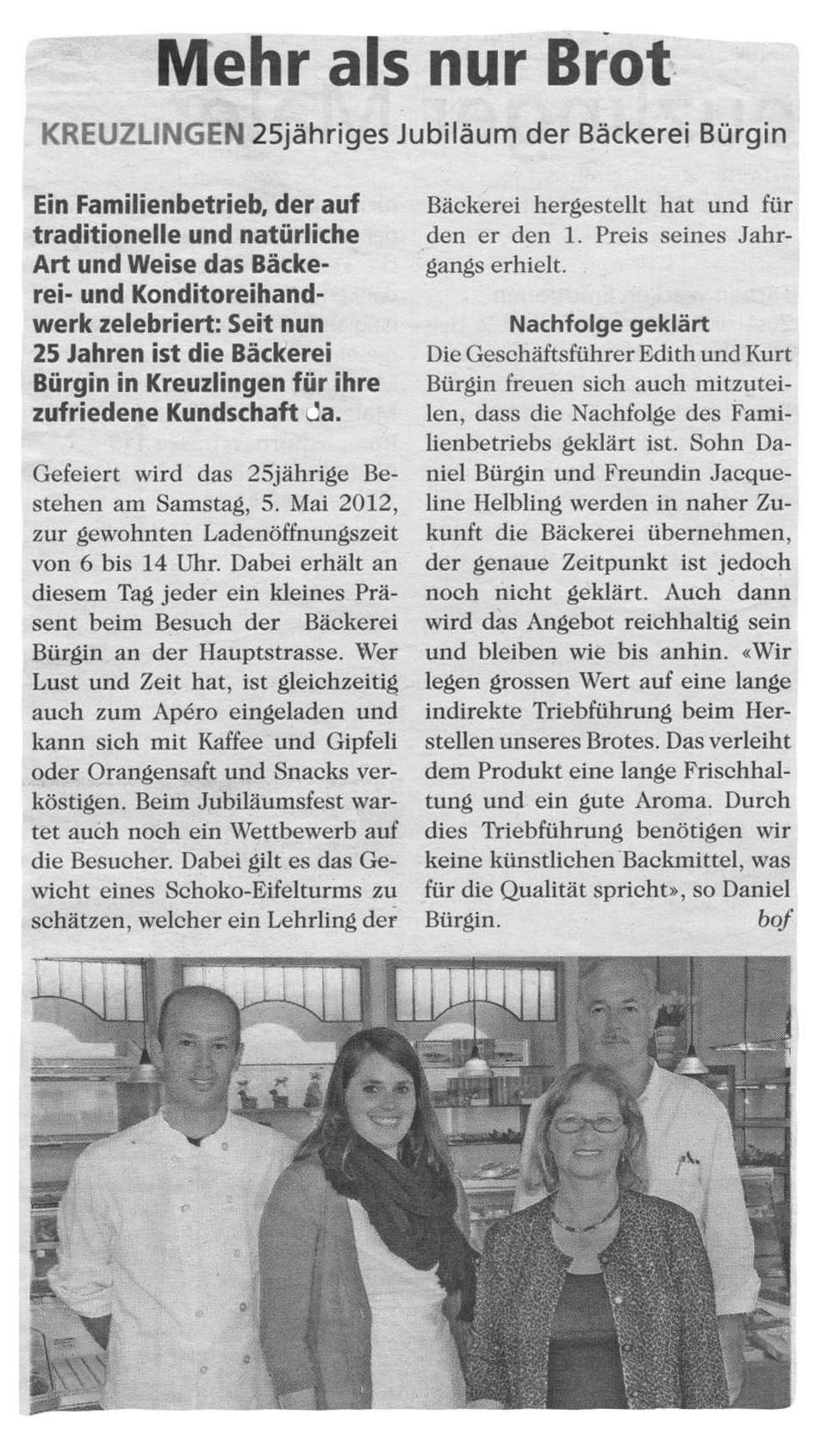 Zeitungsartikel_Buergin_25Jahre