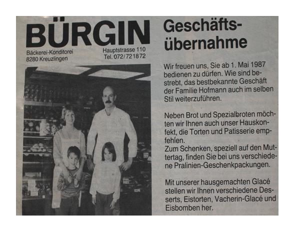 Baeckerei_Buergin_1987_Eroeffnung
